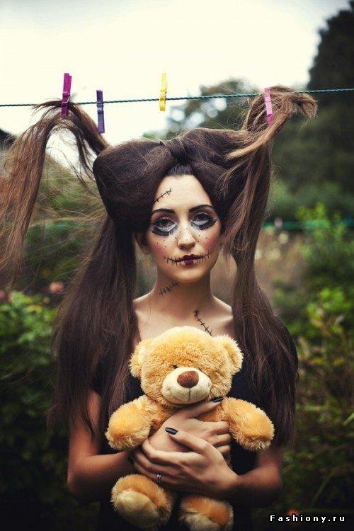 Пошаговый макияж на Halloween / макияж на хэллоуин фото урок