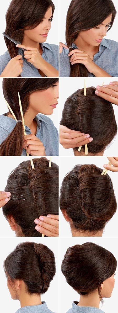 прическа ракушка для длинных волос