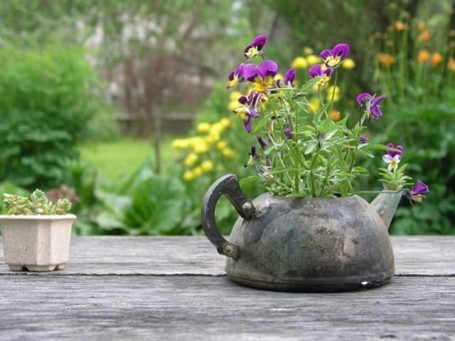 Садовый декор из подручных материалов - Декор | Дизайн интерьера