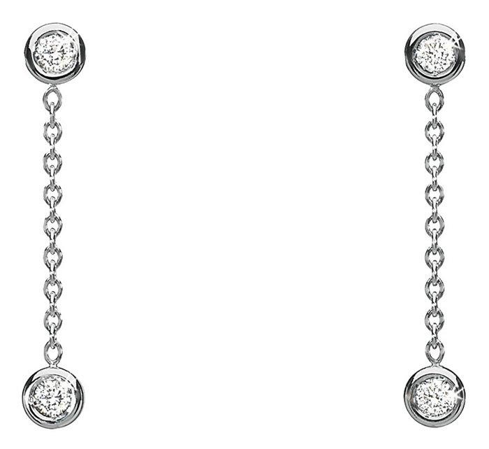 Серьги Dior из белого золота 18 карат с бриллиантами