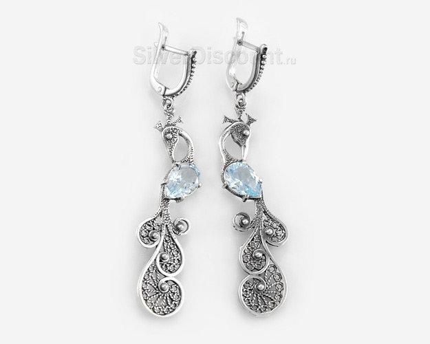 Серьги из серебра, фото и цены, серёжки купить в интернет магазине Сильвер Дисконт