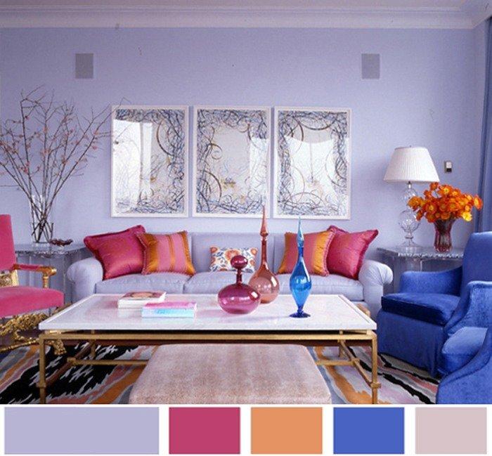 Сочетание цветов в интерьере комнаты