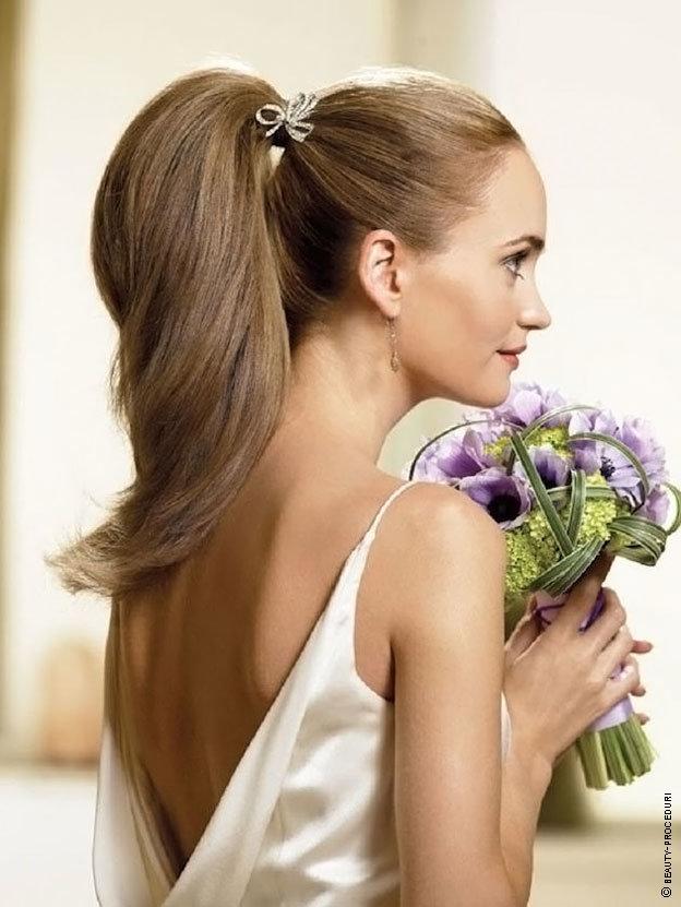 Свадебная прическа хвост: 15 идей для создания гламурного образа (фото)
