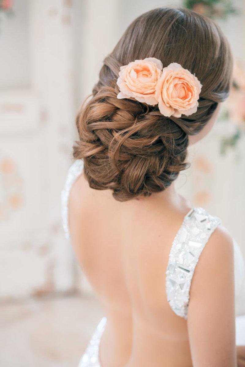 Свадебныеприческисцветаминасредние,длинныеикороткиеволосы | VolosoMagia.ru