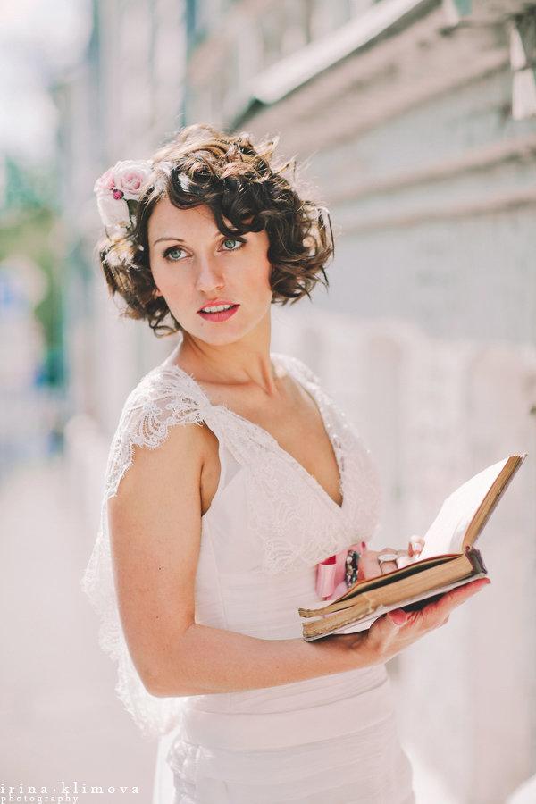 Свадебные причёски для коротких волос фото - 3867 идей на Невеста.info