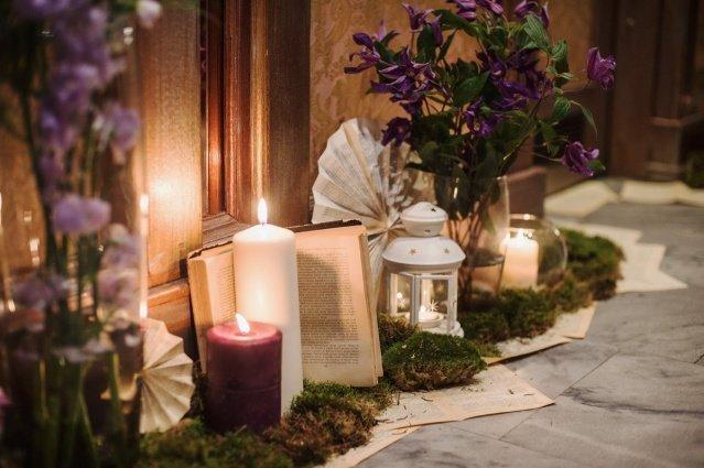свадебный декор со свечами | StudioScenario