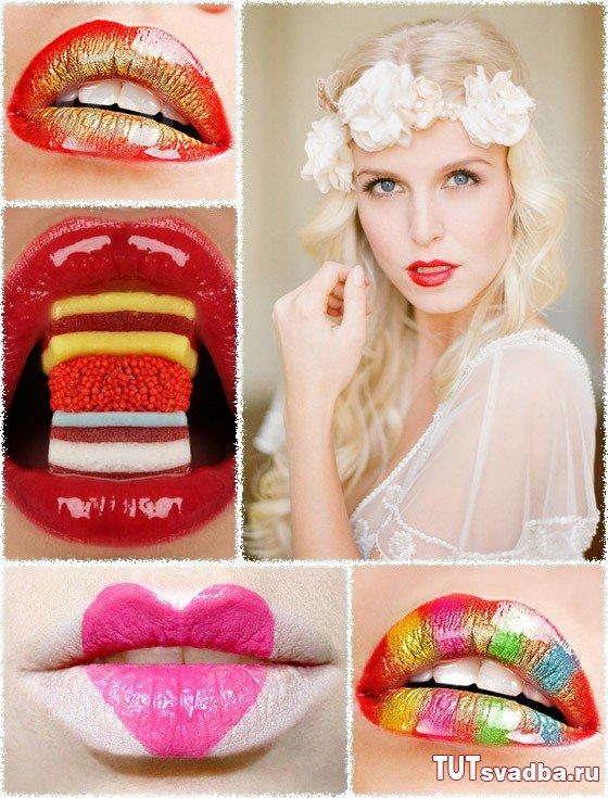 Свадебный тренд - яркие губы невесты + Фото » Свадебный портал ТУТ СВАДЬБА