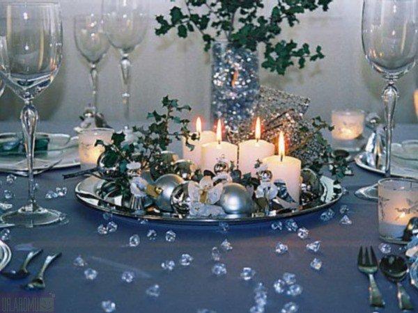 Свечи для декора новогоднего стола