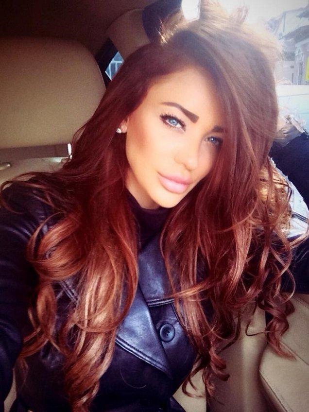 Бургундский цвет волос фото