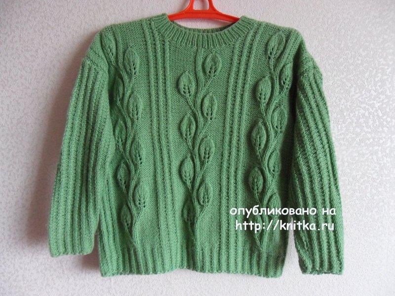 Вязаный спицами пуловер. Работа Светланы Шевченко (Sova Fotina),  Вязание для женщин