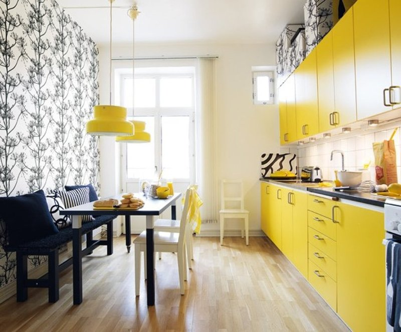 Выбираем дизайн стен на кухне: фото, идеи, советы по обустройству обеденной зоны