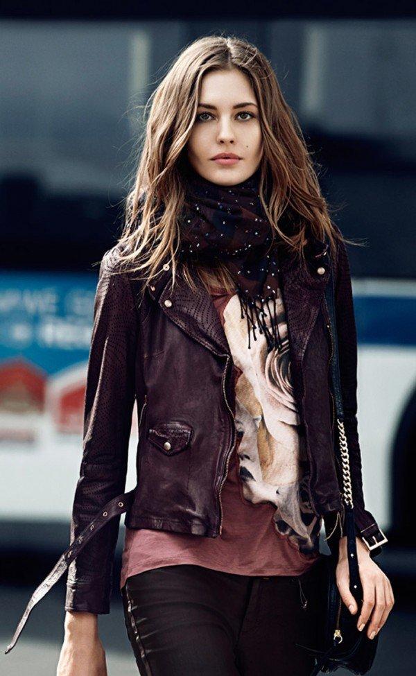 Женские кожаные куртки 2014-2015: фасоны, цвета, отделка