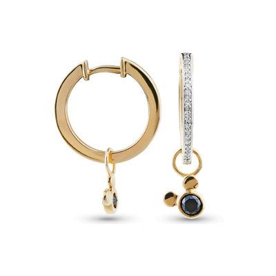 Золотые серьги с бриллиантом, артикул 3002201678948, по цене 60 850 руб. в ювелирном интернет-магазине Goldax в Москве