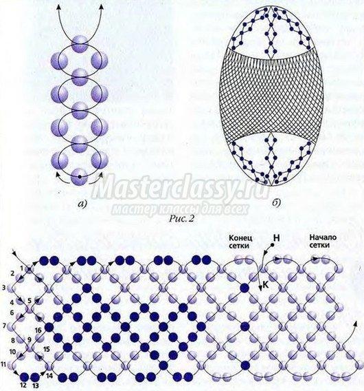 оплетение яйца бисером схема для начинающих