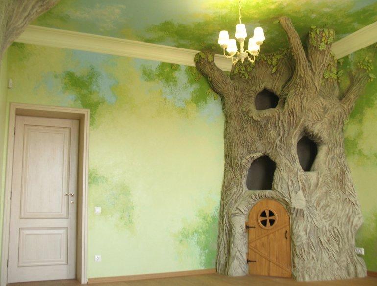 Искусственное дерево своими руками больших размеров 467