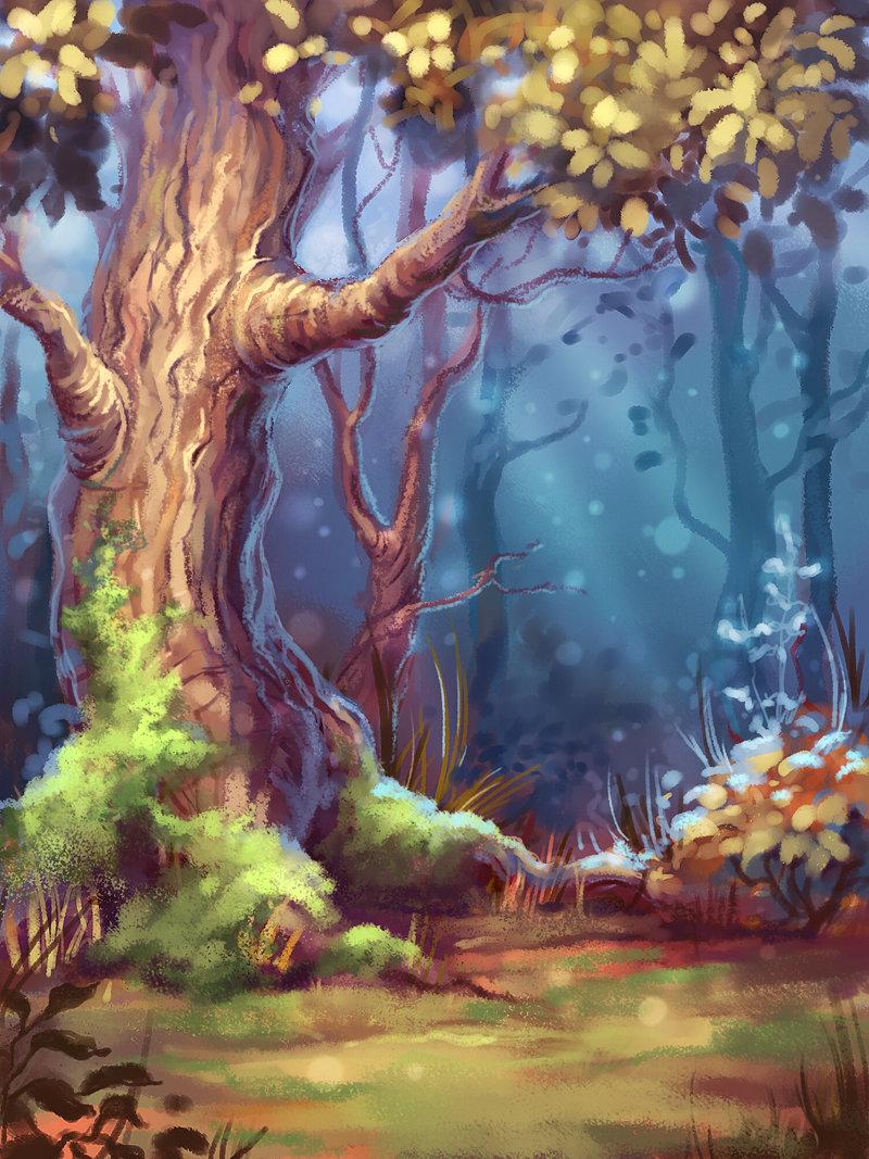 картинки деревьев из сказочного леса запросу картина