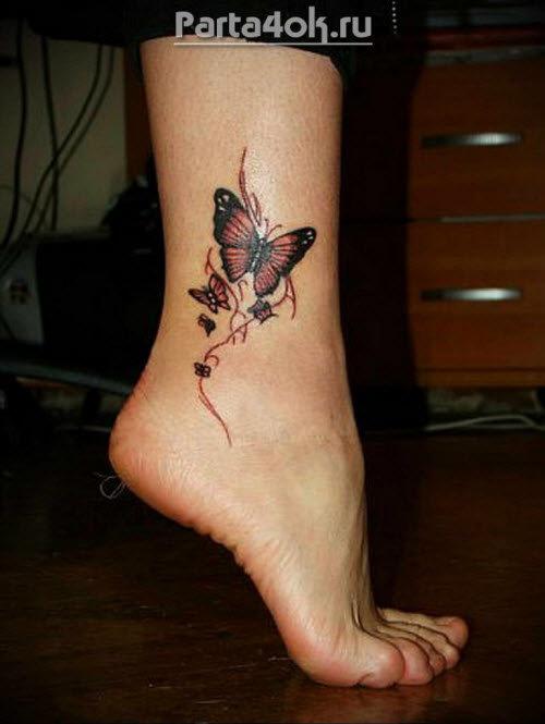 татуировки на ногу для девушек фото