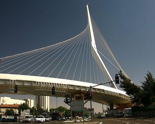Мост линии легкой железной дороги в Иерусалиме