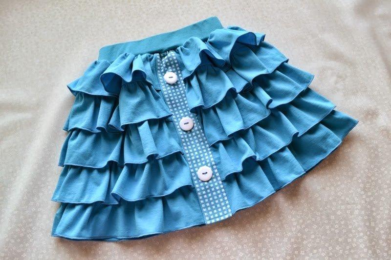 Многоярусная детская юбка