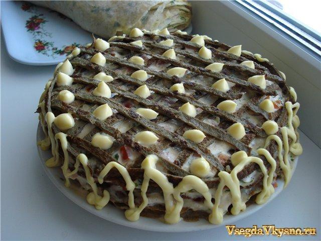 Печеночный торт с фото