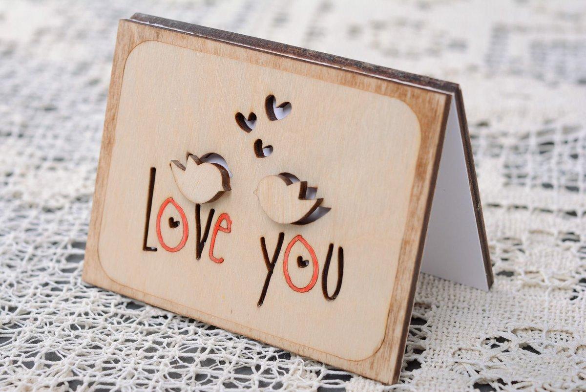 Креативная открытка влюбленных