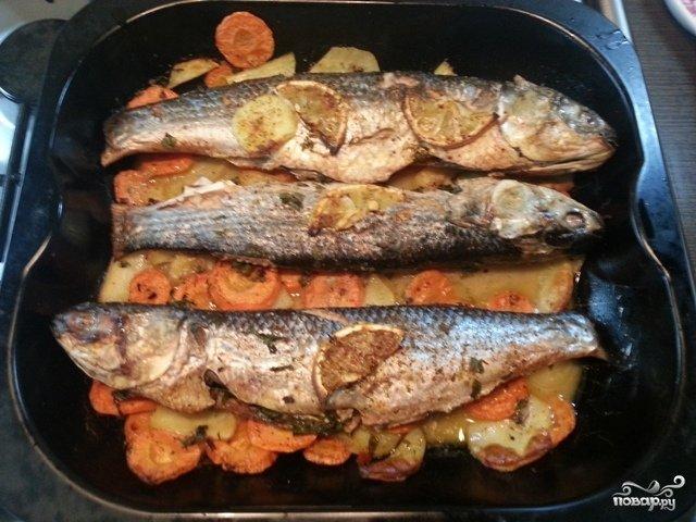 Рецепт рыбы кефаль в духовке с фото