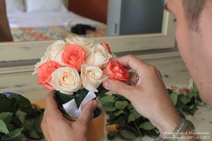 Цветов, букет из 23 роз своими руками фото