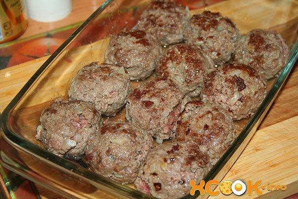 Мясные тефтели в духовке рецепт с фото