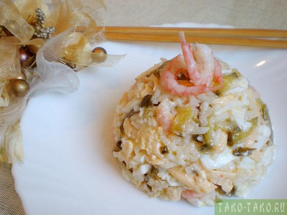 Японский салат с креветками и сыром очень вкусный и красивый. Пошаговый рецепт данного салата с фото каждого этапа облегчит процесс приготовления.