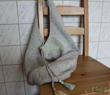 ee974ce7b590 Купить или заказать Вязаная сумка спицами. Пляжная сумка-мешок. в интернет- магазине