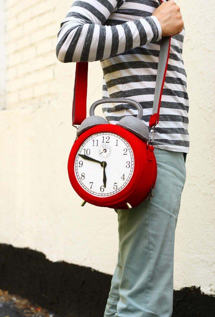 267b7ed9873b авторская женская круглая сумка-часы авторская женская круглая сумка-часы