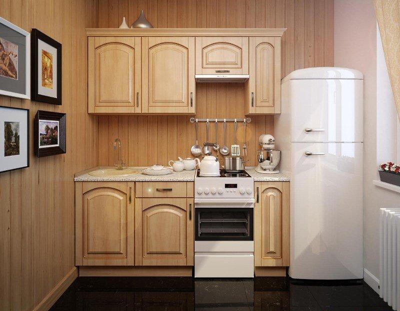 Прежде чем браться за дизайн-проект интерьера малогабаритной кухни, необходимо определиться с планировкой гарнитура. Именно он здесь будет играть главную роль и послужит акцентом помещения.