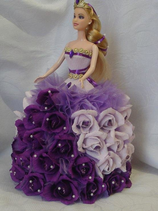 Кукла и конфеты своими руками 786