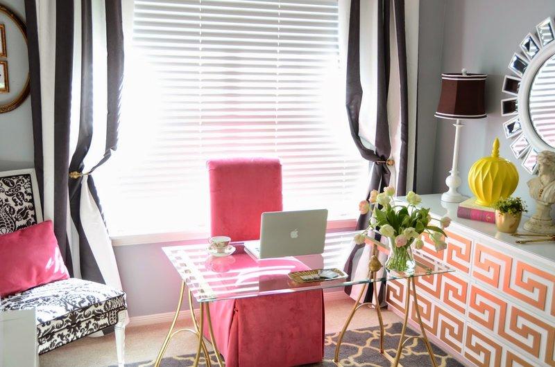 Стиль гламур в интерьере домашнего кабинета