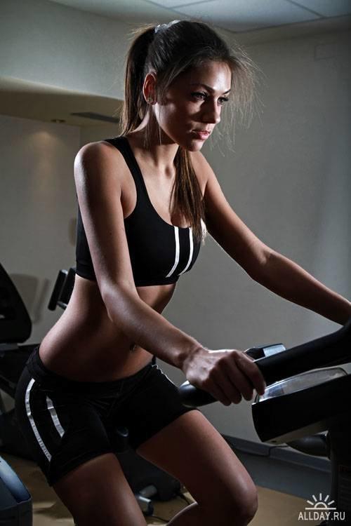 Фитнес - Растровый клипарт