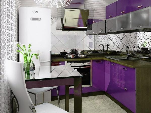 Маленькая кухня дизайн фото 4 кв м