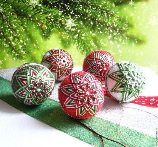 Елочные шарики в японском стиле