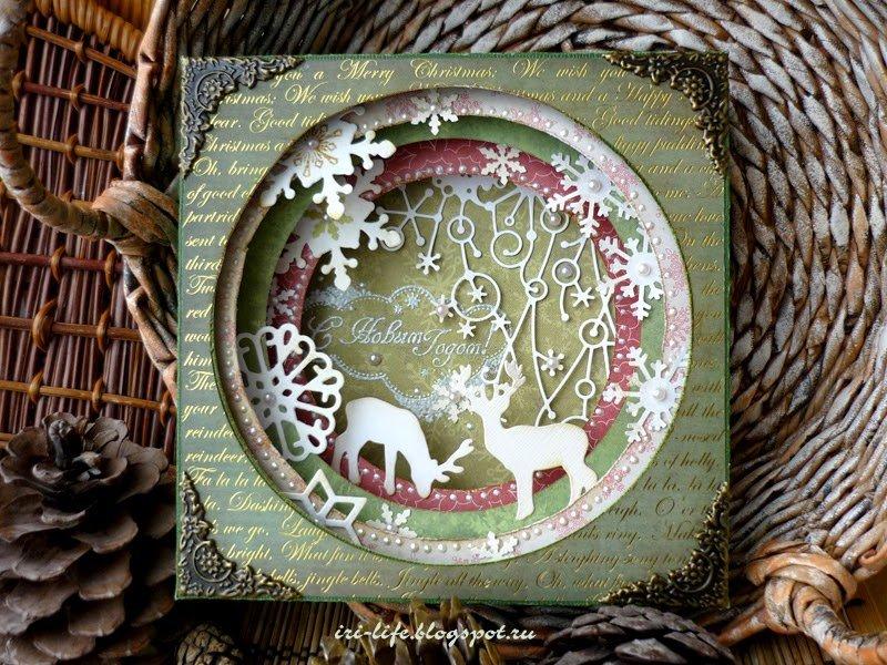 Скрапбукинг тортик, открытки туннель новый год