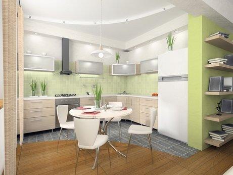 Кухня в эко стиле.