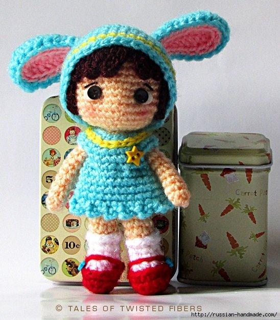 Амигуруми. Маленькая девочка в костюме зайчика. Описание (4)