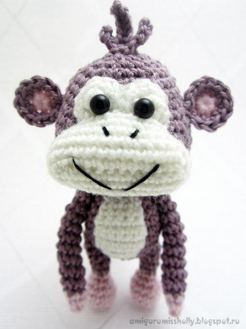 Амигуруми обезьянка вязаная крючком