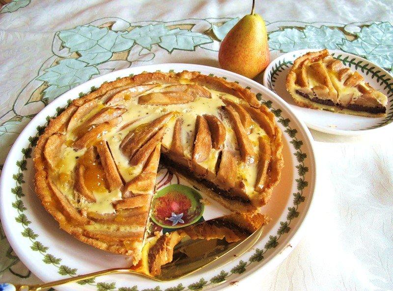 Блюда Франции: Грушевый торт с шоколадно-кремовой начинкой » Очень вкусные кулинарные рецепты первых и вторых блюд, салатов, пицц, пирогов, печенья с фотографиями. Сайт вкусных фоторецептов рецептов - cookit