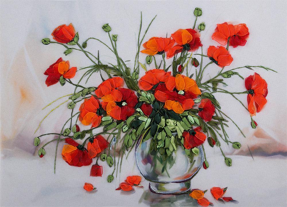 Маковый букет купить, живых цветов