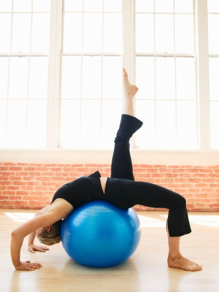 Exercise with fitball