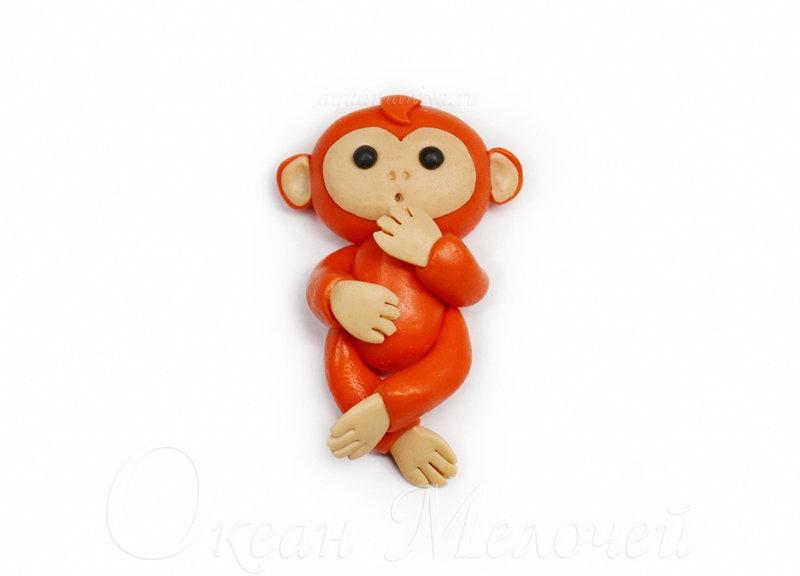 Игрушка-обезьянка своими руками из полимерной глины: мастер-класс | Океан мелочей