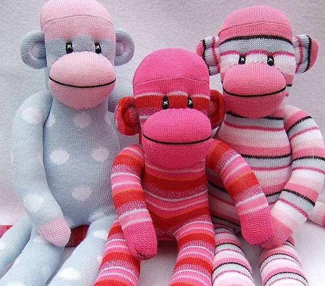 Как сшить обезьянку из носка