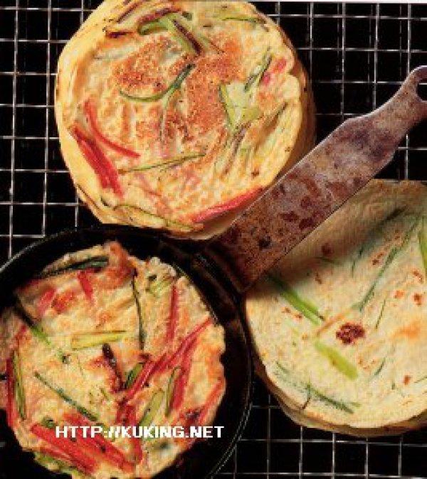 Корейские блинчики с зелёным луком и соусом-дип - Кухня Южной Кореи