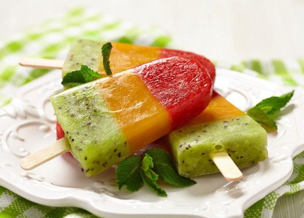 Мороженое фруктовый лёд