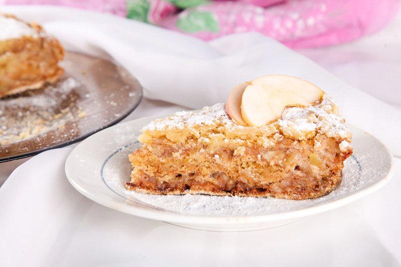Насыпной яблочный пирог рецепт с фото пошагово