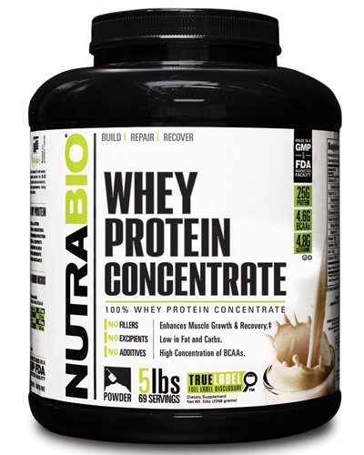 NutraBio Whey Protein Concentrate 2270 гр | Sport-trade